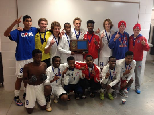 The large Apollo senior class led the Eagles to the section championship