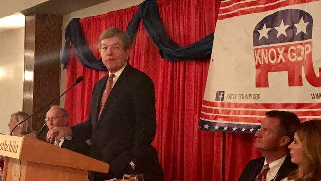 U.S. Sen. Roy Blunt, MO, was the keynote speaker at the Knox County Republican Party's Lincoln Day Dinner.
