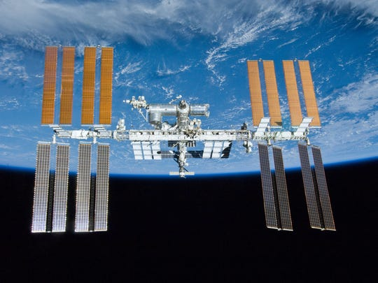 Orbiting 250 miles above Earth, the International Space