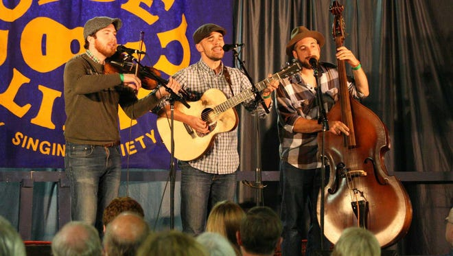 The Brothers Blue performed at the 2015 Turtle Hill Folk Festival.