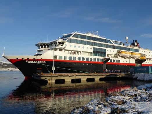 Hurtigrutens Trollfjord A Cruise Ship Designed For Norways Fjords - Cruise ship norway