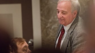 Mike Ball, R-Madison, speaks to fellow members during the opening day of the Alabama Legislative Session on Tuesday, Jan. 9, 2018, in Montgomery, Ala.