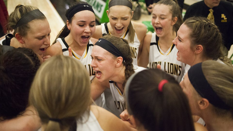 Red Lion celebrates after the game. Red Lion defeats