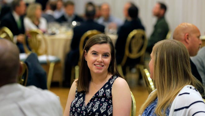 Allison Haley of Wardlaw Hartridge High School attends the Dan Hayston Memorial Sportsmanship Awards at The Pines Manor in Edison, NJ Wednesday, May 10, 2017.