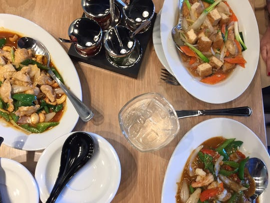 Basil is known for fresh, flavorful Thai cuisine that comes to life in dishes like Cashew nut pork, ginger tofu and basil shrimp.