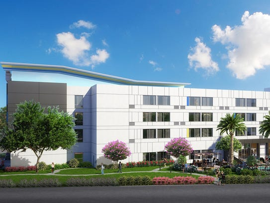 A rendering of the 100-room Aloft Hotel that's scheduled