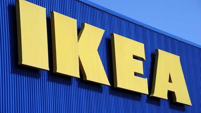 (FILES) This file photo taken on March 27, 2013 shows the sign of Swedish furniture giant Ikea at the Odysseum shopping mall, in Montpellier, southern France.  The public prosecution of Versailles requested the referral to the criminal court of Ikea France and 15 people, suspected of having set up a vast system of spying of employees and customers, according to a source close to the survey on January 11, 2018. The prosecutor's office has called for the holding of a lawsuit for unlawful collection of personal data as well as breaches of professional secrecy, said the source, confirming informations from the French news paper Le Monde. Ikea France is on its side accused of concealment of these offences. / AFP PHOTO / PASCAL GUYOTPASCAL GUYOT/AFP/Getty Images ORG XMIT: 25 ORIG FILE ID: AFP_WA50Y