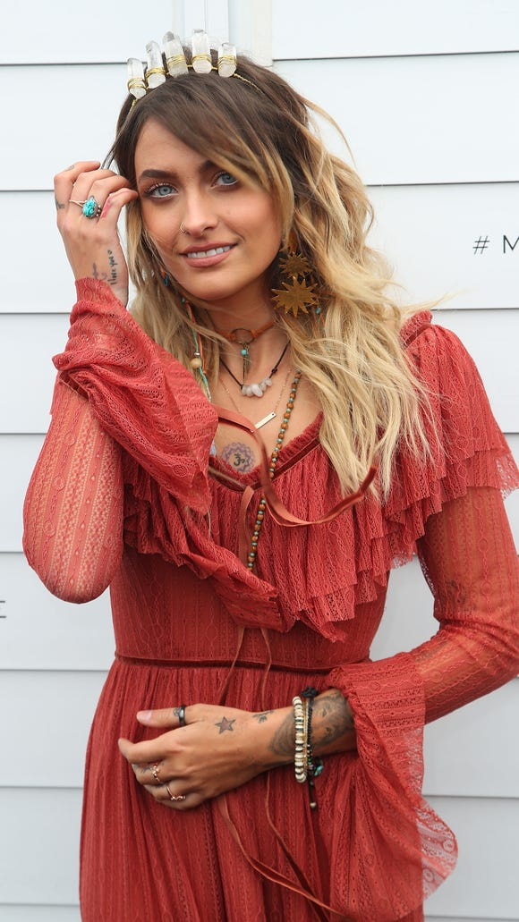 Paris Jackson attends the Myer Marquee on Emirates