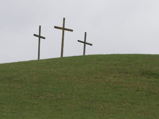 Crosses spotted along the back roads of West Virginia.