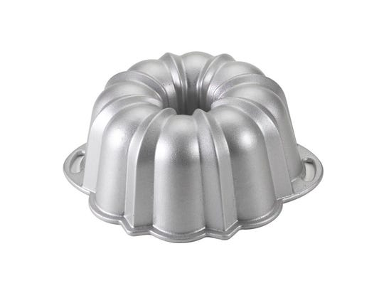 Bundt cakes are made in a specially designed pan.