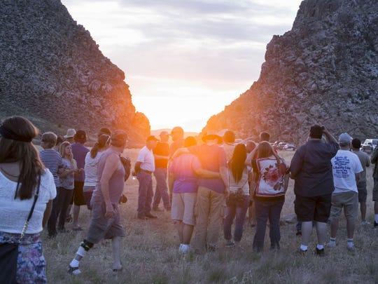 Summer Solstice Observation at the Parowan Gap on Saturday, June 21, 2015,