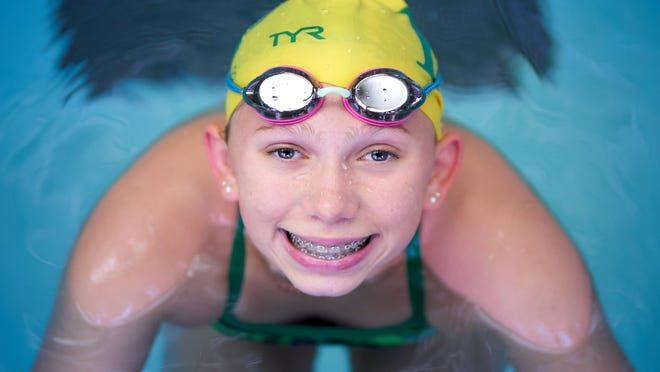Lauren McNamara, who helped Flat Rock get a girls swimming team started this fall, has been named The Monroe County Region Girls Swimmer of the Year.