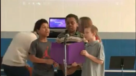 Delaware Elementary students Jeremiah Lynch, Jericho Wright and Roger Keene sang 'Hallelujah' and it was amazing.