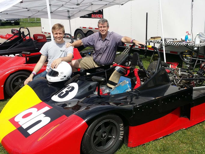 Payne and Henry Jr. are seen racing at Michigan's Gingerman