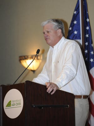 In this archive photo, California Senator Andy Vidak speaks during the Tulare Chamber of Commerce 2014 Salute to Dairy luncheon.