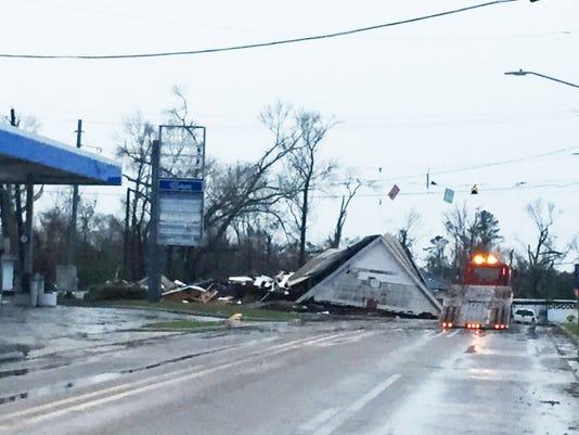 Petal, Miss., after tornado