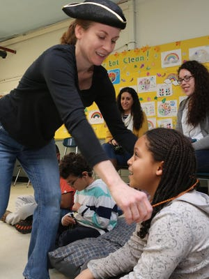 Tara O'Boyle interacts with children in a autism-friendly production by Yellow Finch Project at the Westchester Exceptional Children's School in North Salem . Members of the Yellow Finch Project aim to make kids on the spectrum (and their families) comfortable in a theater setting.