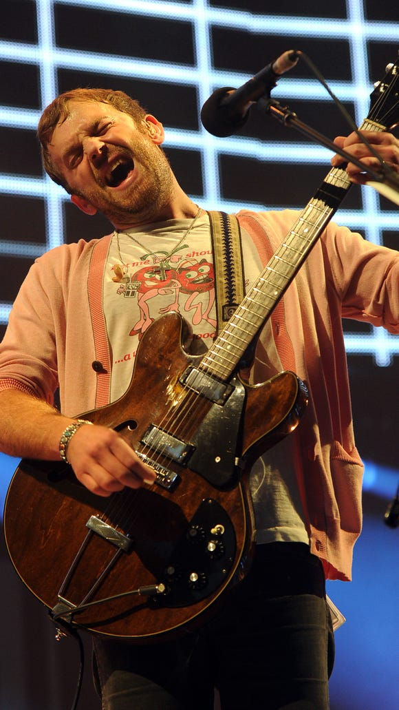 Caleb Followill of Kings of Leon performs at the 24th annual KROQ Almost Acoustic Christmas in Los Angeles in 2013.