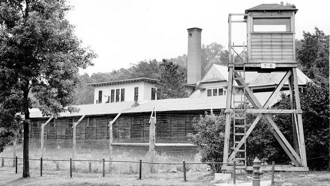 WWII: Military police of the Army and Nazi war prisoners came to Cobbs Hill Park after these barracks were established on the east side of the city. MPs were used for guard duty of important installations, and to control German prisoners at work here. Photo dated Sept. 15, 1945.