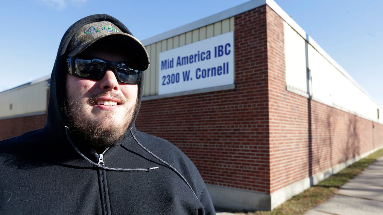 Jacob Hajek worked at Mid-America Steel Drum plant until 2015 and said the working conditions were dangerous.