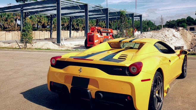 High-end storage is hot at My Other Place on the Lee-Collier County line, where phase II storage condos are currently under build (shown). The 458 Speciale A Ferrari is typical of the items residents of Bonita Springs and Naples gated communities need space for.