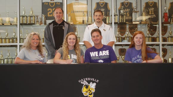Hayesville senior Meghan McQuade has signed to play college basketball for Young Harris (Ga.).