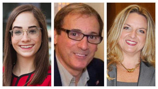 The three candidates for the Palm Beach County School Board's open District 2 seat are, from left, Alexandria Ayala, David DiCrescenzo and Virginia Savietto.