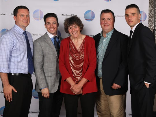 Journal News sports reporters from left, Josh Thomson,