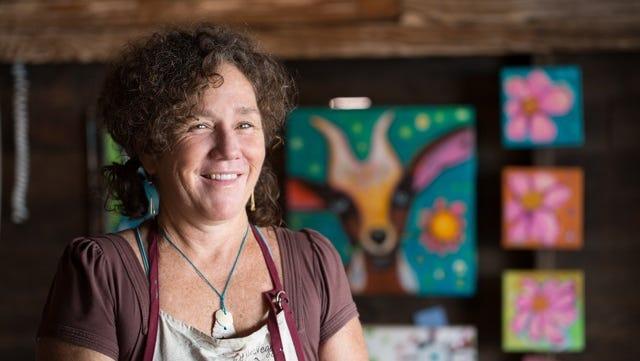 Jenny Odom, 2016 LeMoyne Chain of Parks Art Festival cover artist.