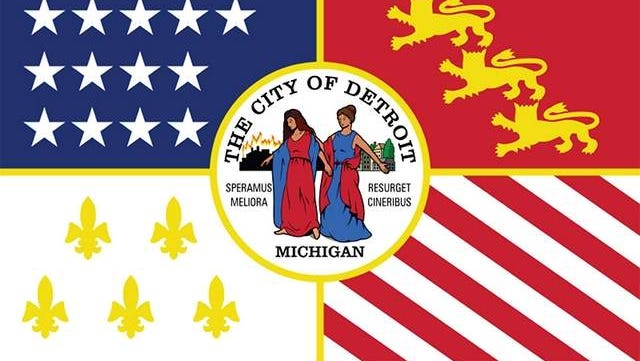 The City of Detroit flag
