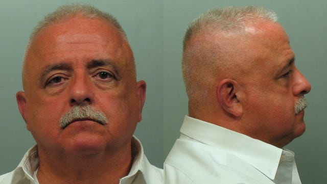 Hugh Fox in his booking mugshot after being arrested for DWI Monday in White Plains.