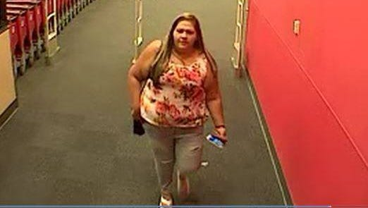 Detectives are looking for a female suspect wanted for identity theft.