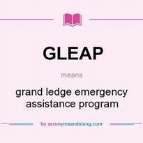 GLEAP means - grand ledge emergency assistance program
