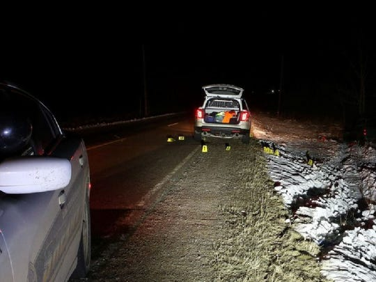 A Lincoln County Sheriff's vehicle is parked at the site of a deputy's fatal shooting of Shawn Igers of Wausau in February.