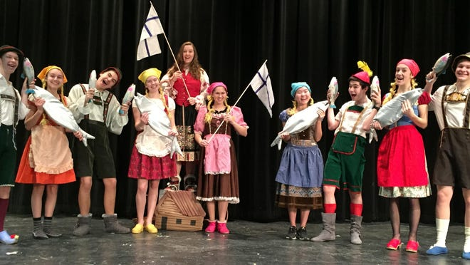 "Monty Python's silly ""fish schlapping song"" is celebrated in the upcoming Mount Mansfield Union production of ""Spamalot."" It's an old dance from Finland that features a lot of slapping one another with wet fish. MMU will present ""Spamalot"" on April 7 to April 9."
