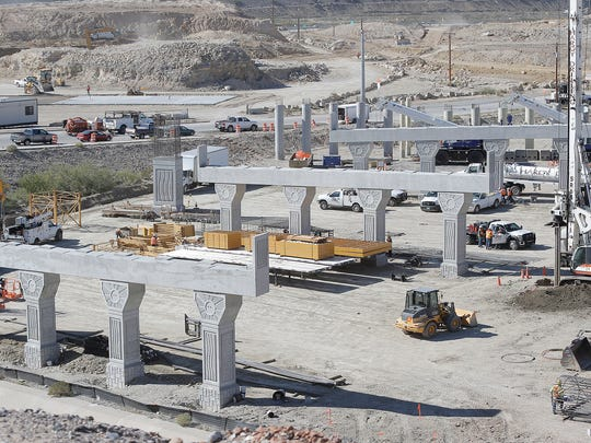 "Work has begun on both the Border West Expressway, above, and the ""Go 10"" project in West El Paso."