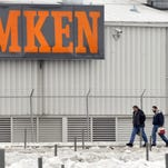Timken employees in Bucyrus leave work in this file photo.