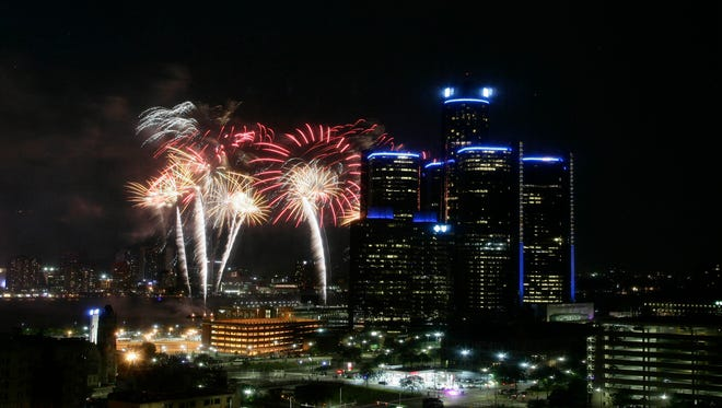 The 2017 Ford Fireworks happened on the Detroit River in downtown Detroit on Monday, June 26, 2017.