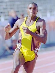 Sprinter Carl Lewis ran a special invitational at the