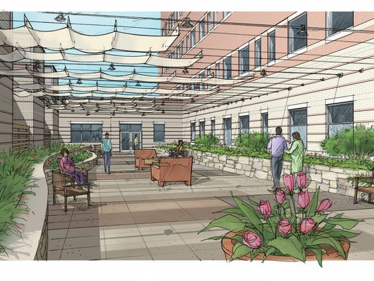 Proposed rooftop garden at Christiana Care's new women and children's center.