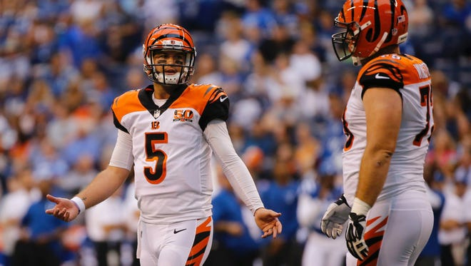 Quarterback AJ McCarron was forced to play nearly the entirety of the Cincinnati Bengals' final preseason game on Aug.31 due to an injury to Jeff Driskel.