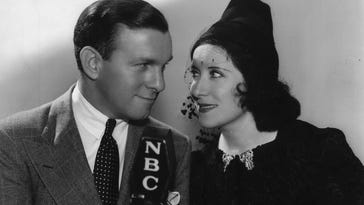 "George Burns and Gracie Allen were the stars of radio's ""Burns and Allen Show,"" on which Allen campaigned for president in 1940."