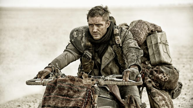 "Tom Hardy as Max in a scene from the film, ""Mad Max: Fury Road."""