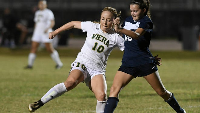 Viera's Brooke Walsh was named Florida Dairy Farmers Class 4A Player of the Year for girls soccer.