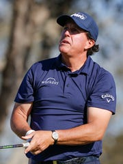 Phil Mickelson watches his tee shot on the 15th hole during the second round of the Arnold Palmer Invitational golf tournament at Bay Hill Club & Lodge. Photo: Reinhold Matay, USA TODAY Sports