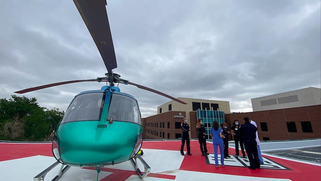 Parkview Medical Center unveiled its new helipad on Monday. Unlike the previous one, it will connect directly to the emergency room, cutting down on patient transport times.