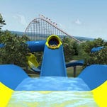Mammoth, a water coaster in Splashin' Safari at Holiday World.