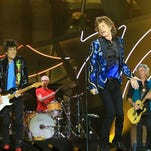 Ronnie Wood, left, Charlie Watts, Mick Jagger and Keith Richards of The Rolling Stones perform during The Rolling Stones North American 'ZIP CODE' Tour at Arrowhead Stadium on June 27, 2015 in Kansas City, Mo.