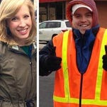 Photos made available by WDBJ show reporter Alison Parker and cameraman Adam Ward. Parker and Ward were fatally shot during an on-air interview on Wednesday in Moneta, Va.