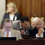 Senate President Pro Tempore Phil Berger, R-Guilford, left, is shown during a recent Senate session at the North Carolina General Assembly in Raleigh.